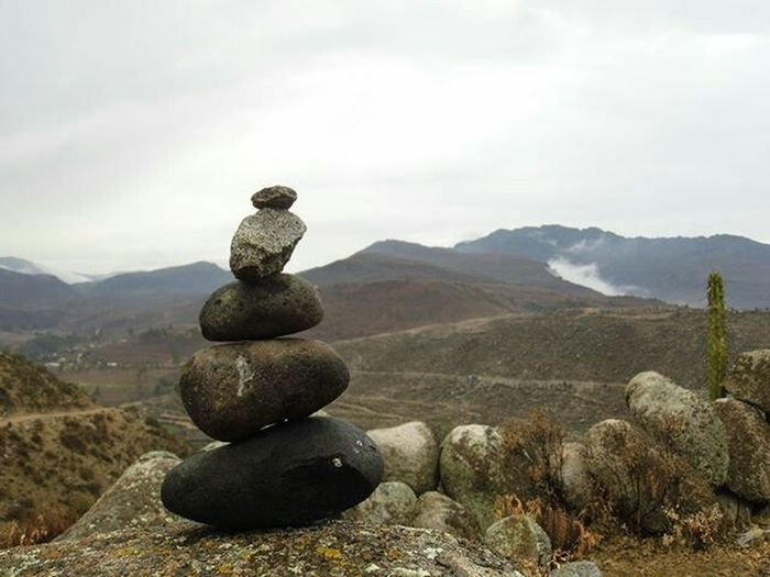 Stones Stone - Object Rock - Object Tranquil Scene Mountain Landscape Tranquility No People Beauty In Nature Outdoors Nature Stack Balance Zen-like Pebble Scenics Day