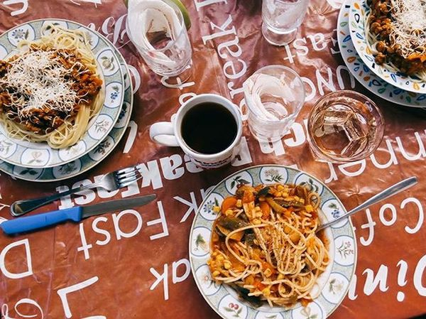 Our home is like a restaurant 🍴 🍝 Nostragiornataaroma Goingrome Erasmus Roma Mood Food Italy Pasta