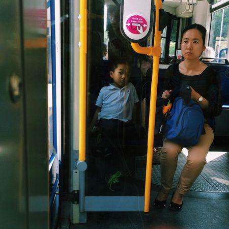 Son and mother The Photojournalist - 2016 EyeEm Awards Eyeemawards2016 EyeEm Best Shots Shadows & Lights Eyeemawards16 The Portraitist - 2016 EyeEm Awards Public Transportation Public Transport Tram