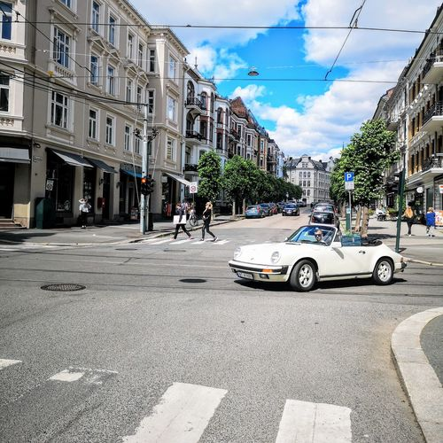 Norway Oslo City Tree Car City Life Street Road City Street Sky Architecture Building Exterior Road Intersection Road Marking Crossroad