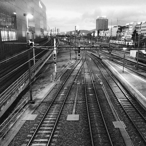 Train Station Train Tracks Empty Places Trains Trains_worldwide Top Perspective