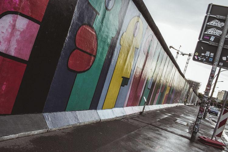 Low angle view of graffiti on wall