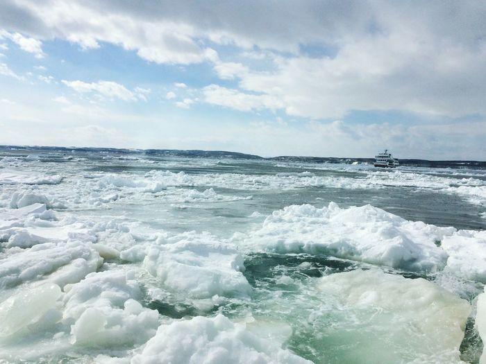 流氷 Sea Beauty In Nature Water Nature Sky Wave Scenics