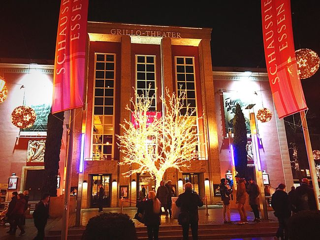 Grillotheater , Theater , people, Building Exterior Dusk Outdoors City Life Street Architecture