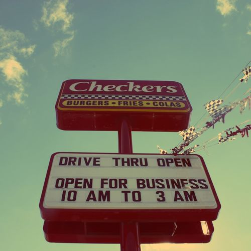 Checkers My Addiction Burgers & Fries