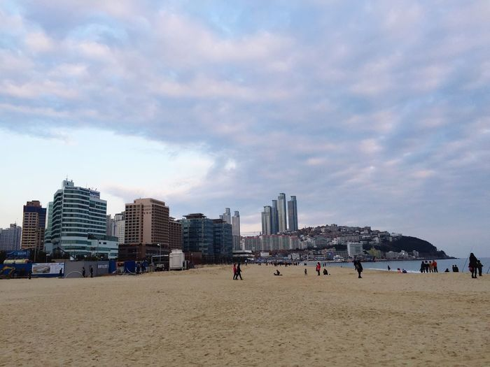 Winter Beach Haeundae Enjoying Life