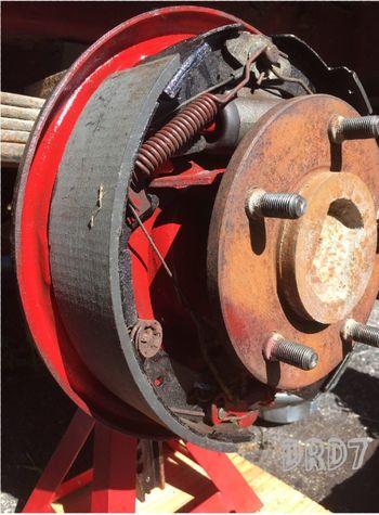 A Brake inaction ;repairs/ Metal Close-up No People Transportation Hello World