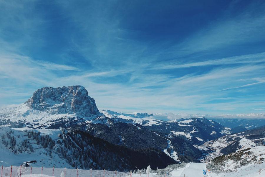 Italian Dolomites in Winter , Alta Badia, Colfosco Alta Badia Blue Sky Cold Colfosco Day Eaurope Freezing Italy Leisure Mountain Mountains Nature Outdoors Powder Ski Lift Skiing Snow Snowboarding Tranquility Travel Winter