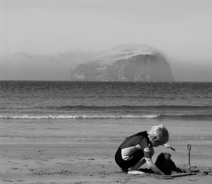 Bass Rock Scotland United Kingdom Beach Beachphotography Blackandwhite Seascape Seaside Sandcastles