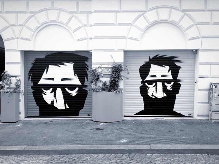Street Art Streetart Face Graffiti Neighborhood Blackandwhite Streetphotography Black And White Black & White