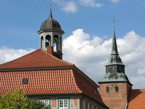 Town Hall Square Townhall Tower Architecture Building Exterior Built Structure Germany Half Timbered House Outdoors Roof