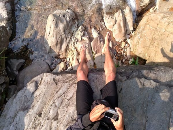 Beach Sand Low Section Leisure Activity Day Real People Outdoors Barefoot High Angle View One Person Human Leg Lifestyles Sunlight Men Women Water Vacations Nature Adult Adults Only Indonesian Shooter Indonesia_photography EyeEmNewHere Healthy Lifestyle Rock - Object Perspectives On Nature