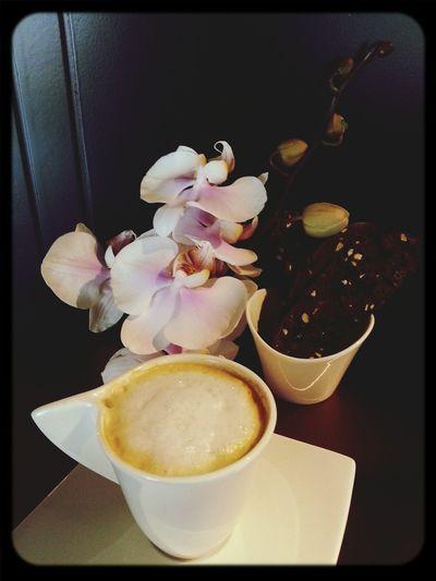 cappuccino&bizcotti&flowers....