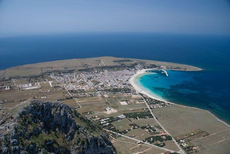 San Vito Lo Capo Sea Aerial View Water Beach Blue Outdoors Nature