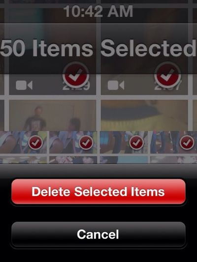 It Kinda Hurt To Erase Them But I Need Space For New Memories!:( 750 Pics Deleted!:(