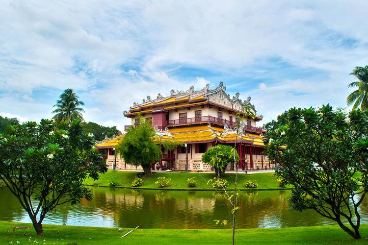 Architecture Architecture Architettura Ayutthaya Bangkok Colori Colors Green Color Residenza Estiva Thailand Thailandia