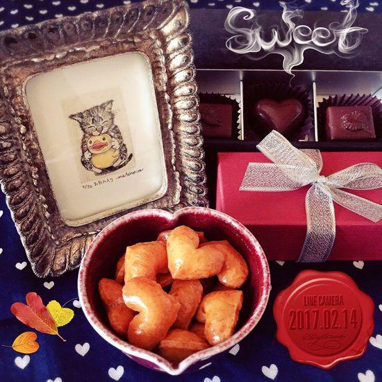 Valentine's Day  ハッピーバレンタイン Chocolate Chocolate♡ はーと おかき