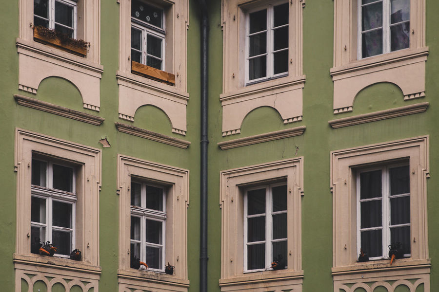 // moody Regensburg // Architecture City German Green Architecture Building Building Exterior Built Structure Cropped Day Germany Lemon Limette No People Old Outdoors Style Unicef Urban Vintage Window Windows
