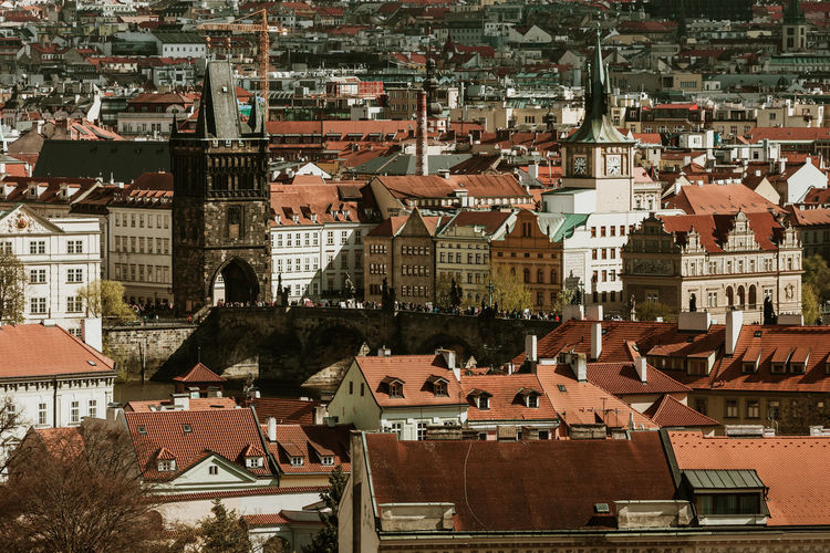 Architecture Built Structure Building Exterior City Residential District Building Crowd Roof Crowded High Angle View Cityscape Day House Town Outdoors Community City Life Nature Sunlight TOWNSCAPE Settlement Prague Prague Czech Republic