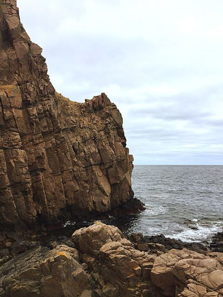 Cliffs of death Hovs Hallar Sky Sea Water Rock Beach Solid Land No People Tranquility
