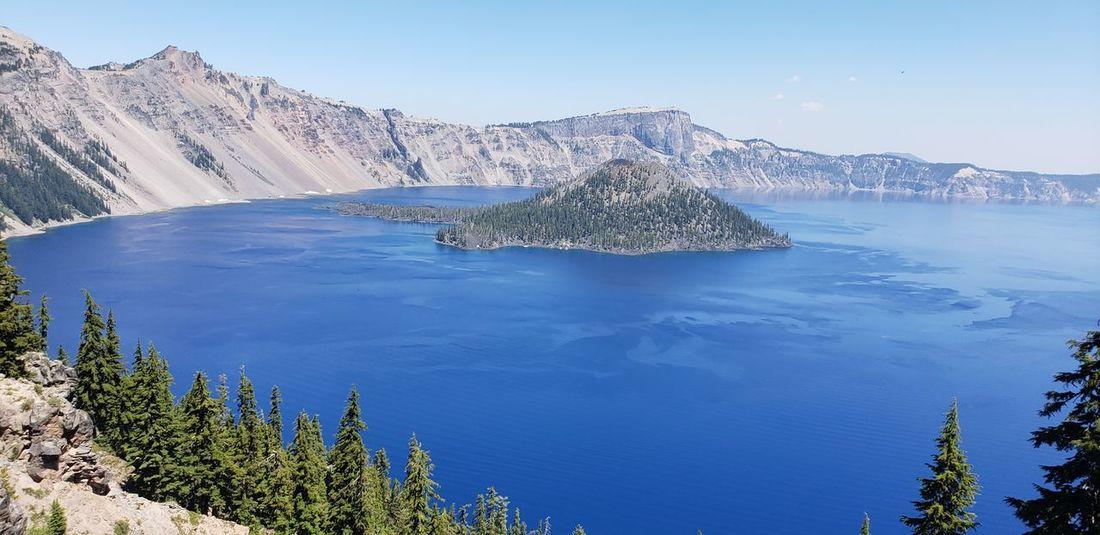 Crater lake EyeEm Selects Water Tree Mountain Snow Blue Lake Pine Tree Pinaceae Winter Sky