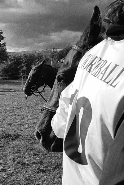 Enjoying Life Cellphone Photography Taking Photos Horseball Horserider Nature Day Countryfair Real People Domestic Animals Outdoors Blackandwhite Horses Carousel Horse Horse Country Life People Country