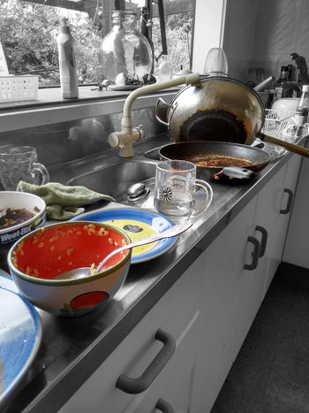 Long time to tidie up! Colour Splash Dirty Kitchen