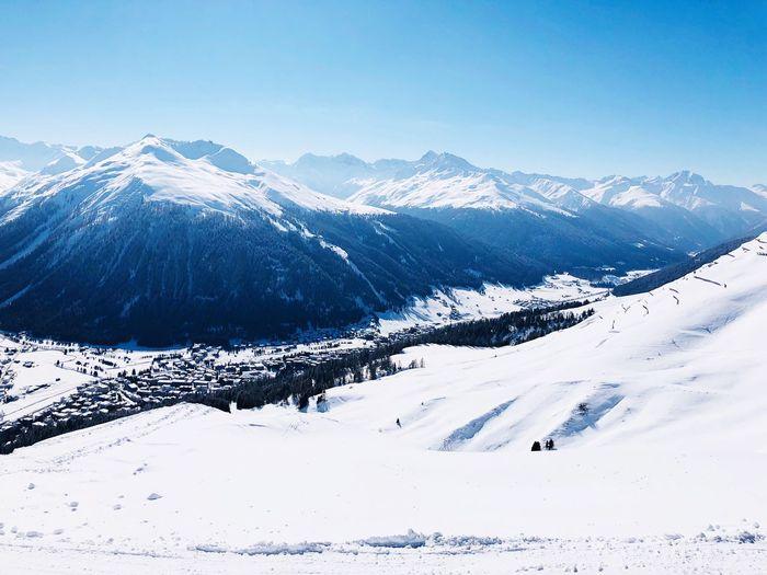 Davos EyeEm Selects Snow Winter Mountain Cold Temperature Nature Snowcapped Mountain Mountain Range Outdoors Frozen Landscape