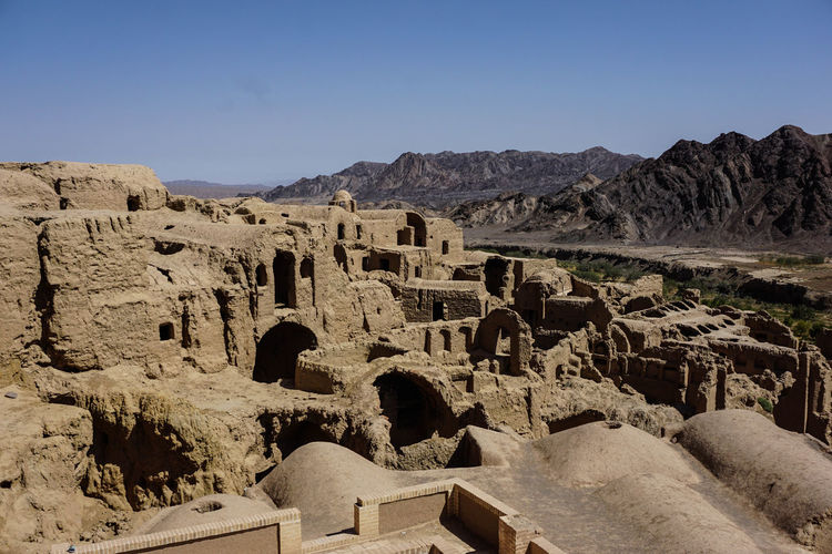 Travel Destinations Travel Photography Iran Persian Architecture Islamic Architecture Shia Community History The Past Ancient Sky Built Structure No People Ancient Civilization Old Ruin Tourism Old Nature Mountain Clear Sky Building Exterior Sunlight Archaeology Ruined