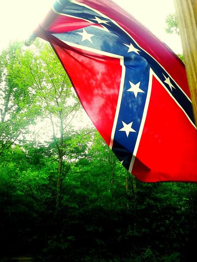 Rebel flag flying high in tennessee. Partofourhistory