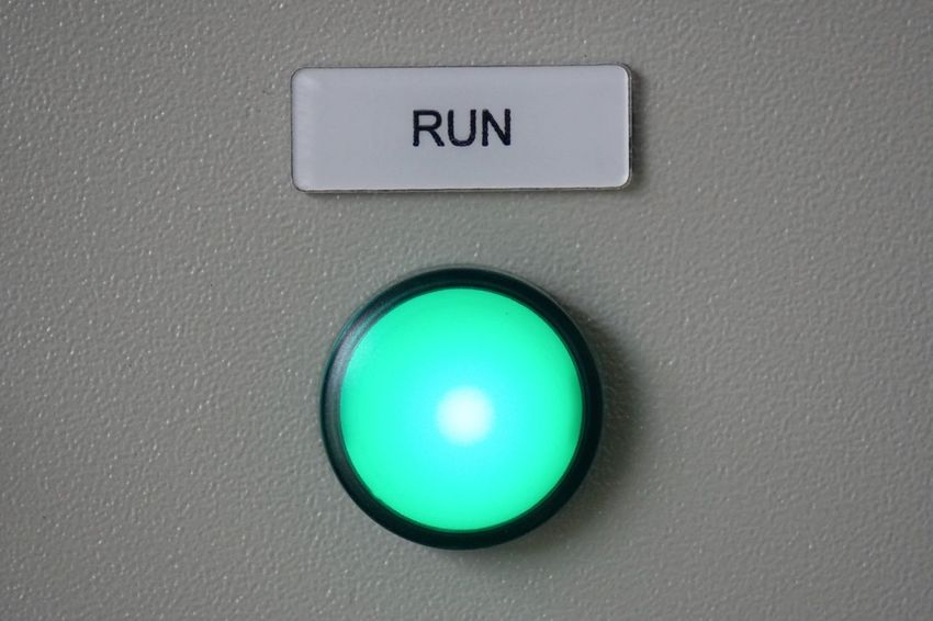 Led Lights  LED Name Plate Communication Close-up Text Control No People Sign Technology Push Button Electricity  Green Color Circle Shape Security Control Panel