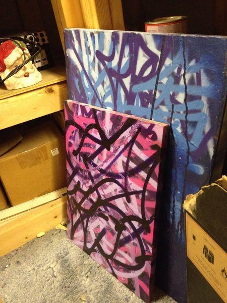 Howler Canvas Background Studio Porn Art Graffiti Art Paint