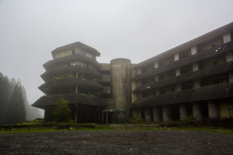 Abandoned hotel 5 Star Hotel Antique Atmosphere Bad Condition Decay Memories Misty Out Of Service Wanderlust Abandoned Atmospheric Mood Broken Building Exterior Copy Space Cracked Decaying Decline Fog Hotel Misterious Old Ruin Outdoors Ruined The Past Vandalised EyeEmNewHere