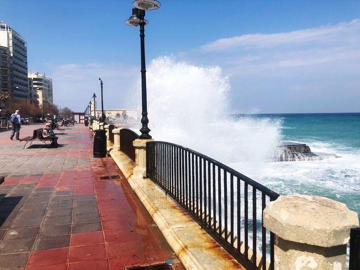 Sliema - Malta - Waves Seafront Ocean Waves Malta Waves Splashing Waves Crashing Waves Sea Sliema Malta Sliema Water Sky Motion Nature Splashing Wave