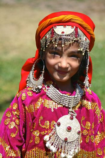 Front View One Person Portrait Child People Childhood One Girl Only Children Only Girls Looking At Camera Beautiful Woman Beauty Headshot Standing Outdoors Multi Colored Close-up Kashmiri Girl Kashmiri Kashmir Portrait Photography Costume Traditional Clothing Kashmiri Traditional Clothing