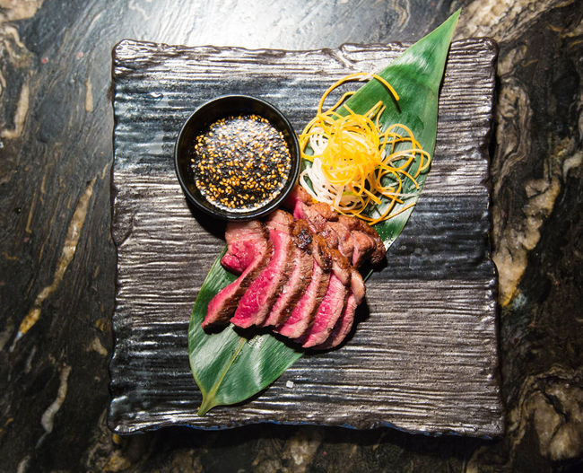 Food shooting at a really nice venue in London. Asian  Fine Art Photography Korean Korean Food London Boeuf Colorful Day Directly Above Dressing Food Food Stories Freshness Ground Beef Légumes Marble Meat Minced Mise En Place No People Presentation Restaurant Rosé Wood - Material Yummy