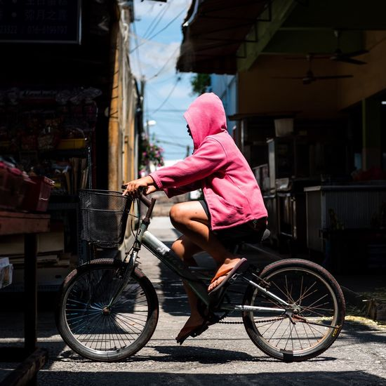 Street First Eyeem Photo Life In Motion Coloursplash Bikeride PINKY