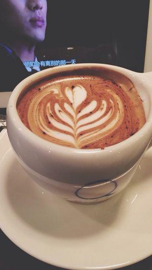 Drinking mocha with a beautiful latte art, watching Korean drama, made me a wonderful afternoon. Mocha Latte Art