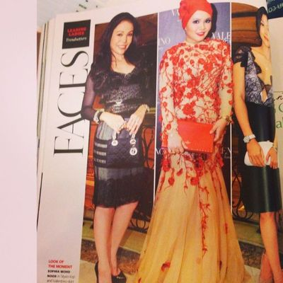 See! See! Again she's featured in a magazine named tatler magazine as a fashion icon. Bawak nama GLAM and we are sooo proud to be under GLAM! Wow! Wow! Hanishaizi