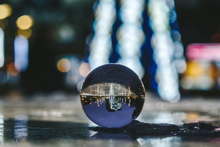 Panevėžys Christmas Tree Christmas Lights Crystal Ball Glass Ball Lietuva Christmas Tree Christmastime Close-up Creative Illuminated Long Exposure Night No People Outdoors Reflection Water