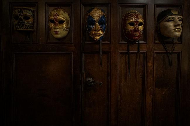 Door Doorknob Indoors  Mask - Disguise Mask_collection Masks Decor Night No People
