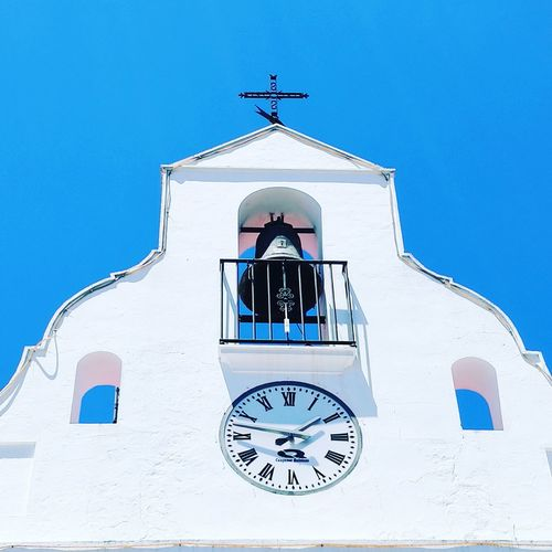 Religion White Color Bell Clock Architecture Building Exterior Cross