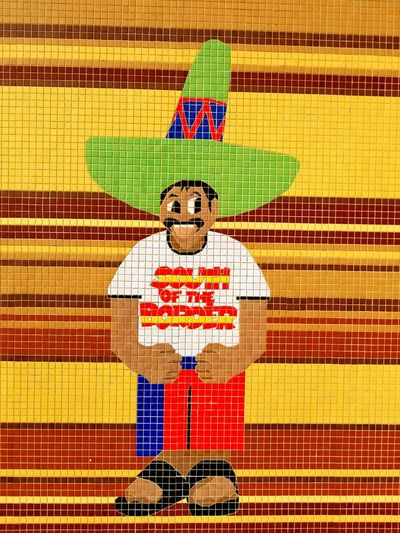 Saw Padro at South of the Border yesterday in South Carolina. He wanted me to wish everyone Happy New Year ( Feliz año nuevo ) Have a wonderful and safe New Year everyone. Happy New Year 2018. South Carolina South Of The Border, South Carolina. Happy New Year 2018 Fun Place  Great Place Wall Tiles ArtWork Art Work Tile Art