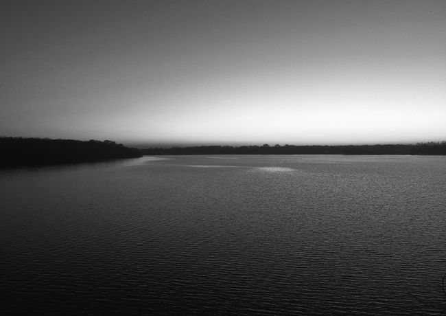 Calm Waters Atmospheric Mood Black And White Blackandwhite Calm Horizon Over Water Iphone 6 IPhoneography Lake View Sunset Water
