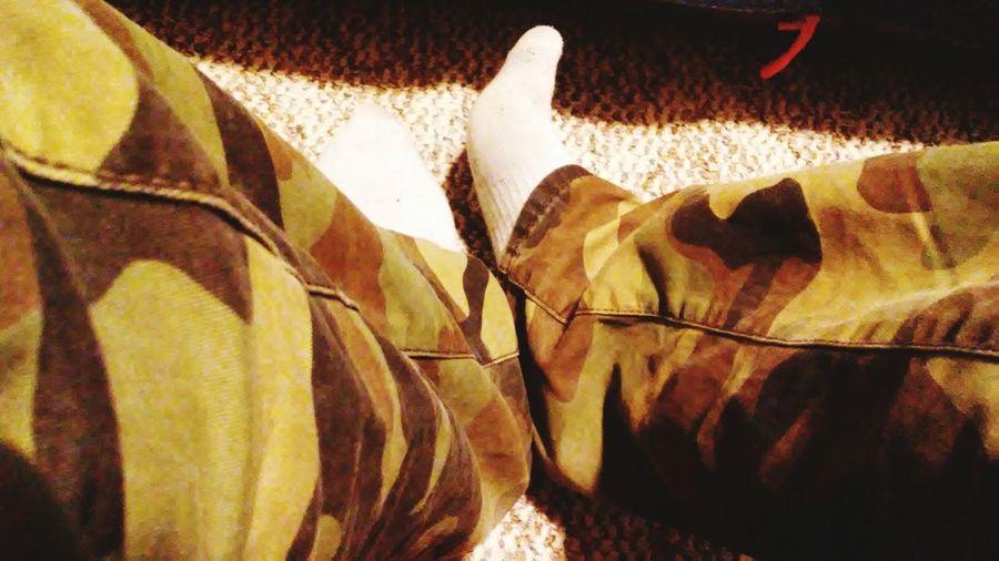 Indoors  Human Leg Real People Feetselfie Camo TK Maxx Socksie