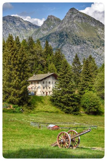 Valle D Aosta Plant Mountain Tree Building Exterior Architecture Grass Built Structure
