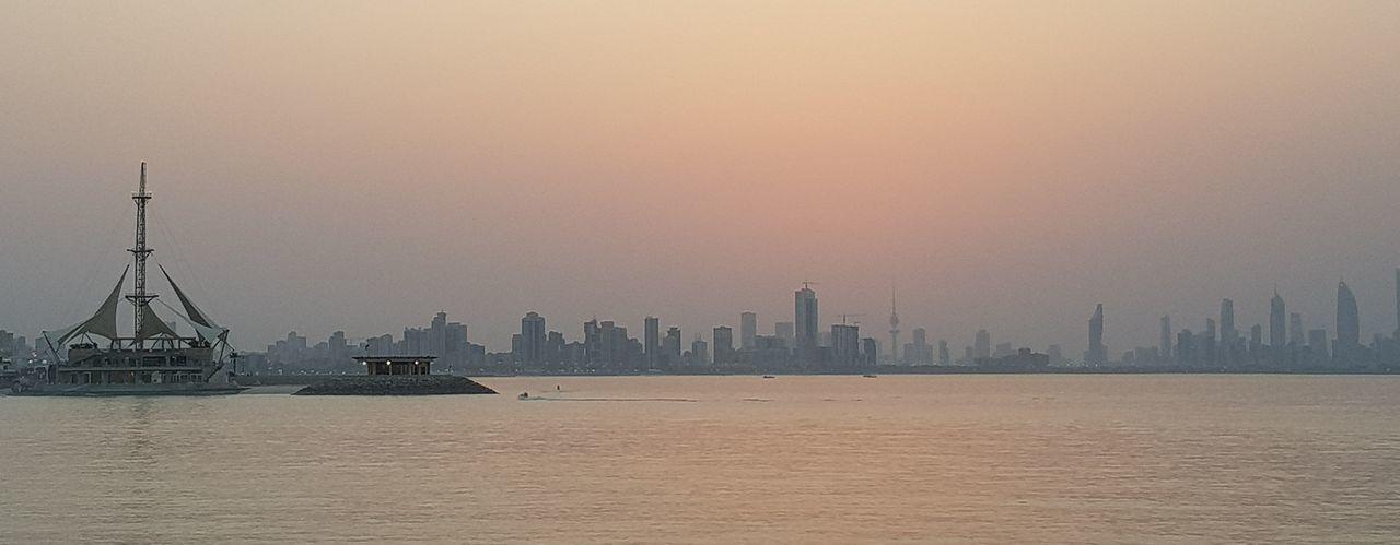 Sunset, Salmiya, Kuwait City Cityscape Urban Skyline Skyscraper Lake Architecture Sky Tower Moored Skyline EyeEmNewHere