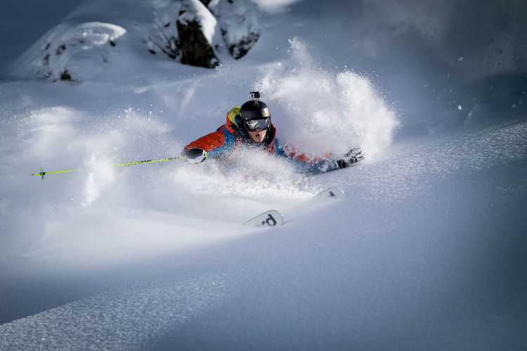 Freeskier Tao Kreibich loves the smooth fresh powder. The foto was taken last season at the Arlberg. The day before it dumped around 50cm of fresh snow. Tao and I saw the sun spot in the untracked powder we created that shot. Fresski Snow ❄ Alps Skiing Winter Snow Sportsphotography Juliustiefenthaler Unique First Eyeem Photo