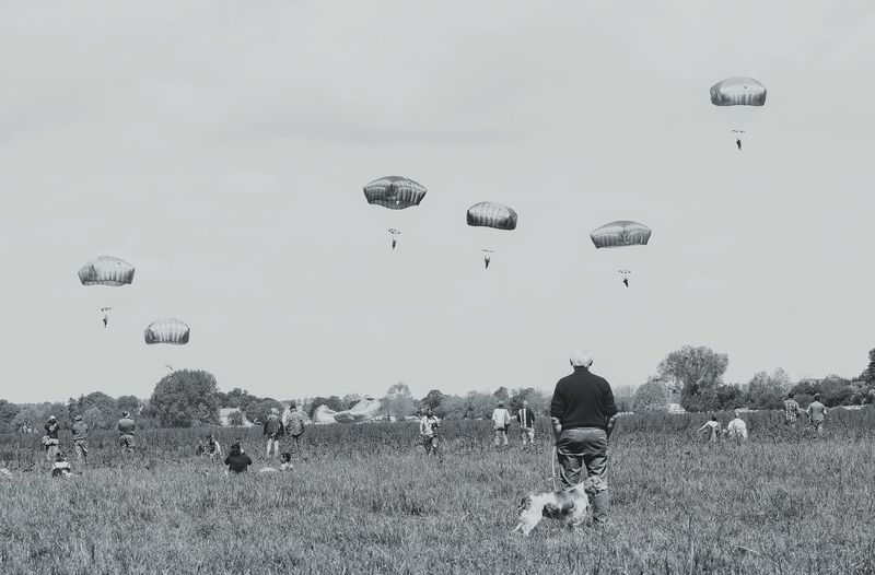 Flying Parachute Paratroopers Memories WWII Normandy D-Day