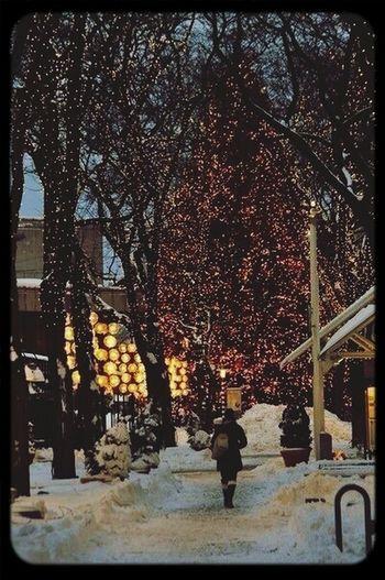 Street Winter New Year Atmospher
